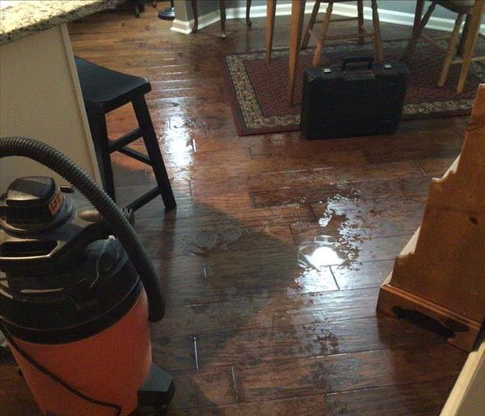 Wood floors with water damage